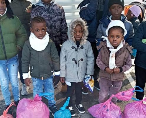 Geflüchtete Kinder auf Lesbos